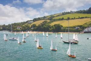 salcombe yawl sail past